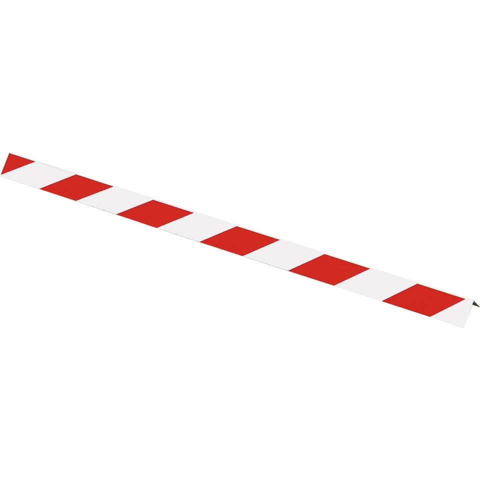 e8412edd7434df Winkelmarkierung, rot/weiß, Aluminium, 5 x 99 cm
