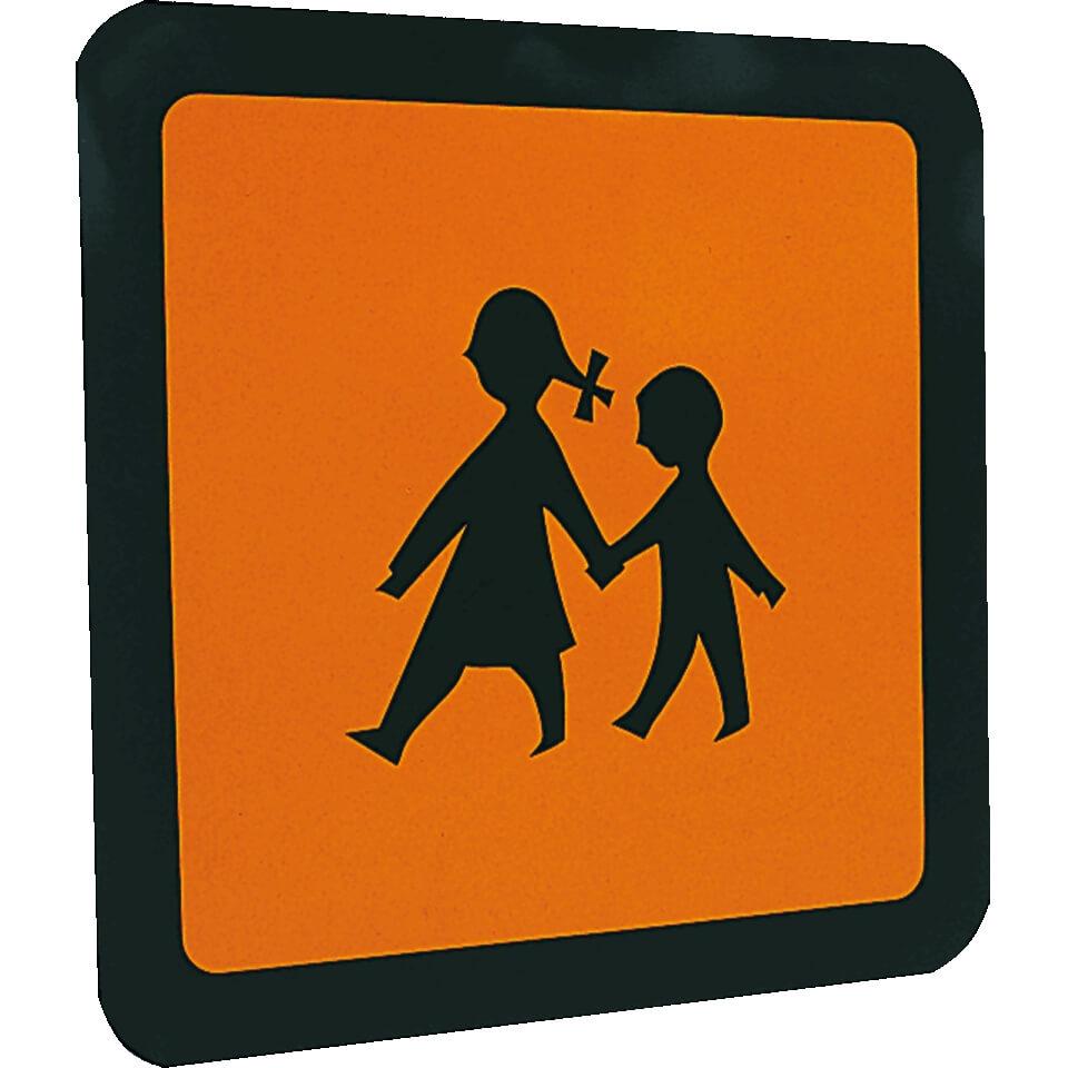 Schulbustafel Kinderaufkleber Reflektierend Selbstklebende Folie 40 X 40 Cm