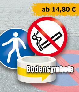 Bodensymbole für Straßenmarkierungen