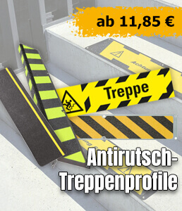 Antirutsch–Treppenprofile