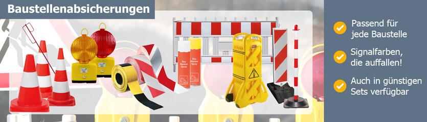 Produkte zur Baustellenabsicherung