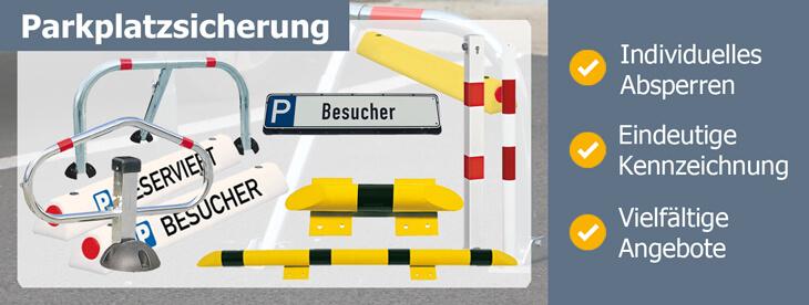 Parkplatzmarkierung zur Parkplatzstrukturierung