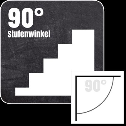Treppenkantenprofil für Stufen mit einer Neigung von 90°