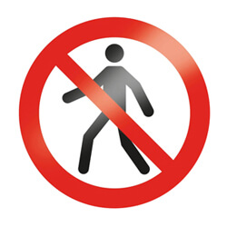Fußgänger verboten