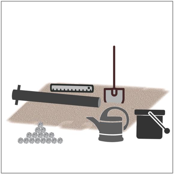Pfosten einbetonieren Materialien